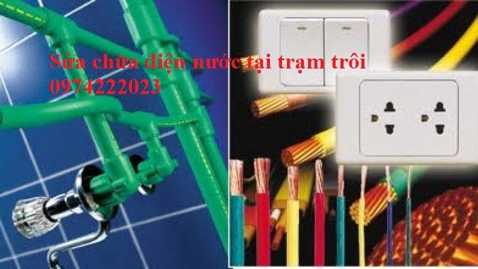 Sửa chữa điện nước tại trạm trôi giá rẻ nhất 0974222023
